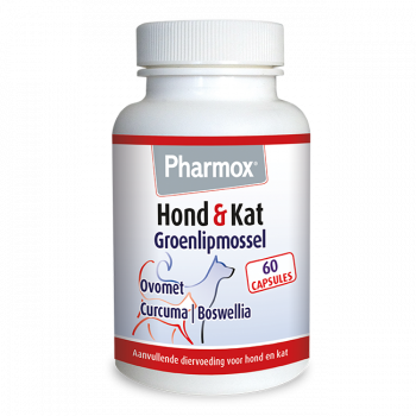 Pharmox Hond & Kat Groenlipmossel 60 capsules