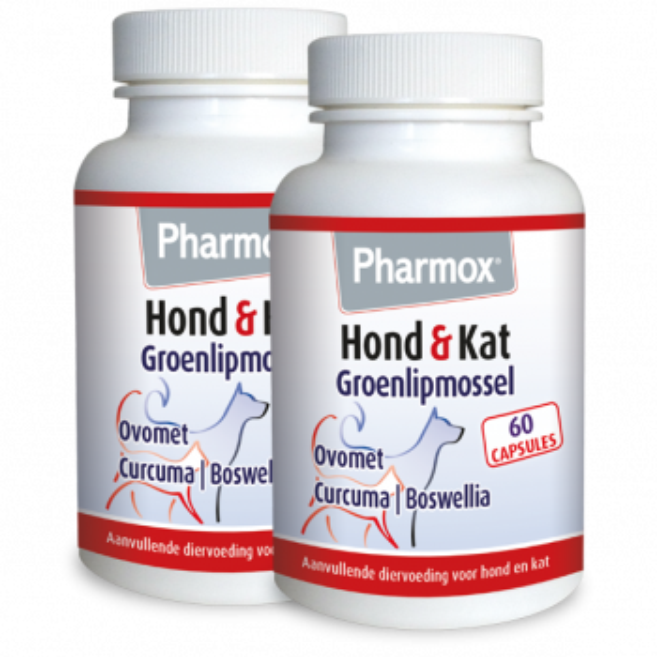 Pharmox Hond & Kat Groenlipmossel 120 capsules